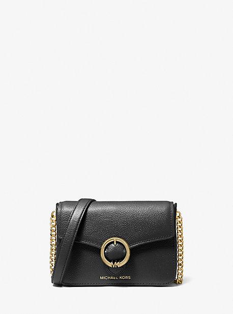 Wanda Small Pebbled Leather Crossbody Bag Michael Kors