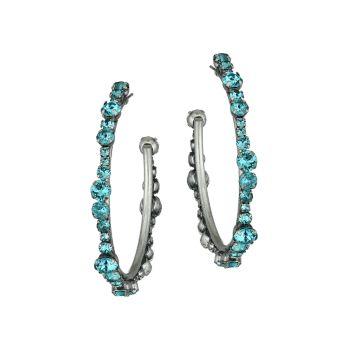 Серьги-кольца Alicia с синими кристаллами DANNIJO