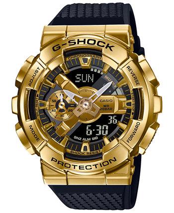 Мужские аналогово-цифровые часы с черным полимерным ремешком, 52 мм G-Shock