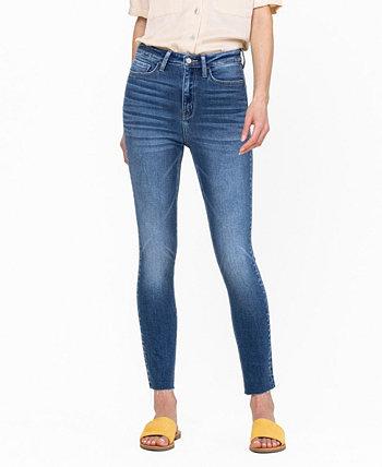 Women's High Rise Clean Cut Hem Crop Skinny Jeans FLYING MONKEY