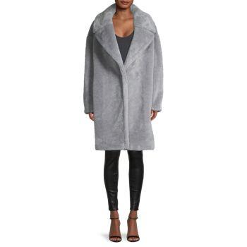 Пальто Тедди из искусственного меха Donna Karan