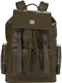 Кожаный рюкзак с монограммой Brandenburg среднего размера MCM