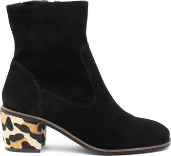 Jade Suede Block Heel Boot Crevo