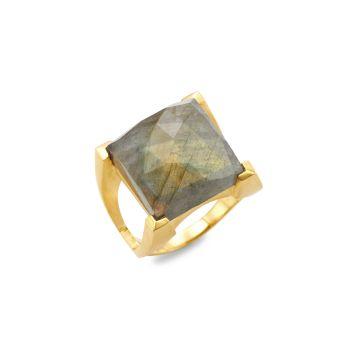 Plaza 22K желтое золото & amp; Лабрадоритовое кольцо DEAN DAVIDSON
