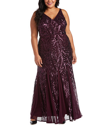 Сетчатое платье большого размера с блестками Nightway