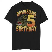 Футболка для мальчиков 8-20 Jurassic Park Rawrsome с рисунком на пятый день рождения Jurassic Park