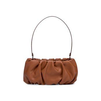 Кожаная сумка через плечо Bean со сборками STAUD