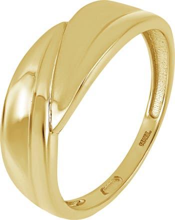 Волнистое кольцо из 14-каратного золота Bony Levy