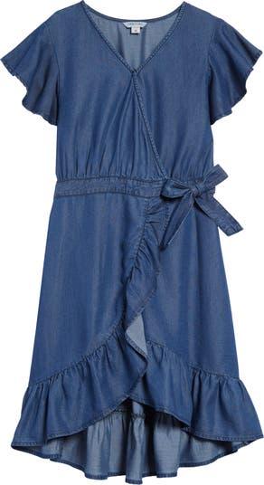 Denim Wrap Dress HABITUAL girl
