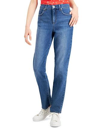 Прямые джинсы с контролем живота, созданные для Macy's Style & Co