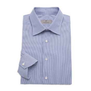 Современная классическая рубашка в полоску Canali