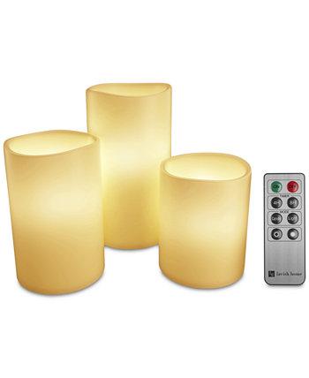 4-Рс. Беспламенные светодиодные свечи и пульт дистанционного управления Trademark Global