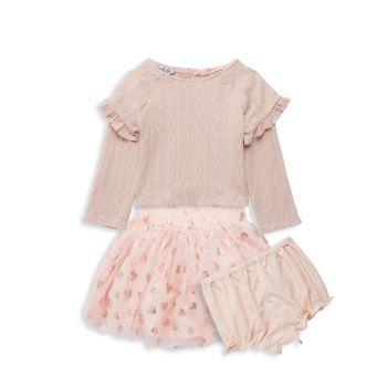 Маленькая девочка & amp; Топ из трех частей для девочек, юбка из фатина и юбка из фатина Комплект шароваров Pippa & Julie