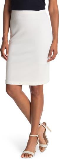 Трикотажная юбка без застежки из смесовой шерсти Milano St. John Collection