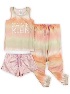 Calvin Klein Girls Sleepwear Майка, пижамные шорты и комплект для сна с пижамными штанами Calvin Klein