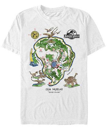 Мужская футболка Isla Nublar Cloud Island с коротким рукавом Jurassic World