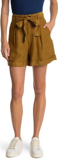 Льняные шорты Avery с завязками на талии ALEX MILL