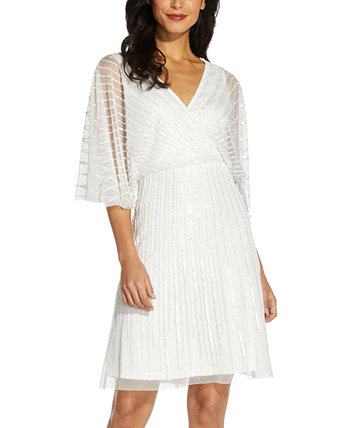 Платье с V-образным вырезом и пайетками Adrianna Papell