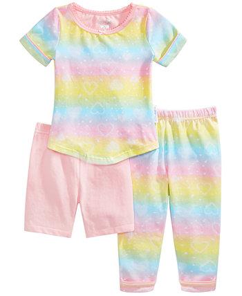 Baby & Toddler Girls 3-Pc. Пижамный комплект с принтом, шортами и брюками Max & Olivia
