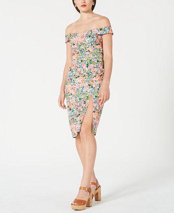 Платье-футляр с открытыми плечами Aidan Mattox
