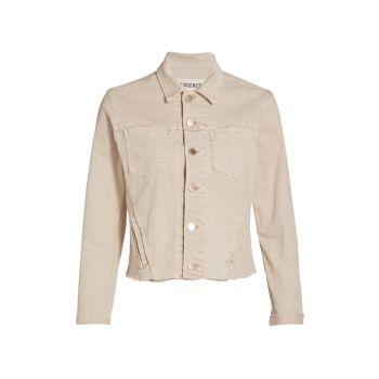 Джинсовая куртка приталенного кроя с необработанным краем Janelle L'AGENCE
