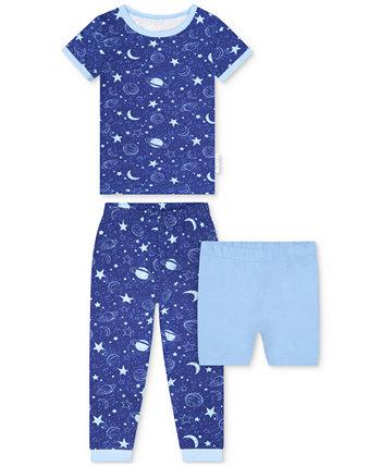 Пижамный комплект из 2 предметов с космическим принтом и шортами для малышей Max & Olivia