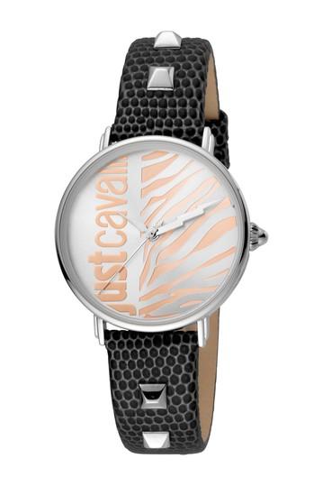 Женские часы с кожаным ремешком и браслетом с животными, 32 мм Just Cavalli