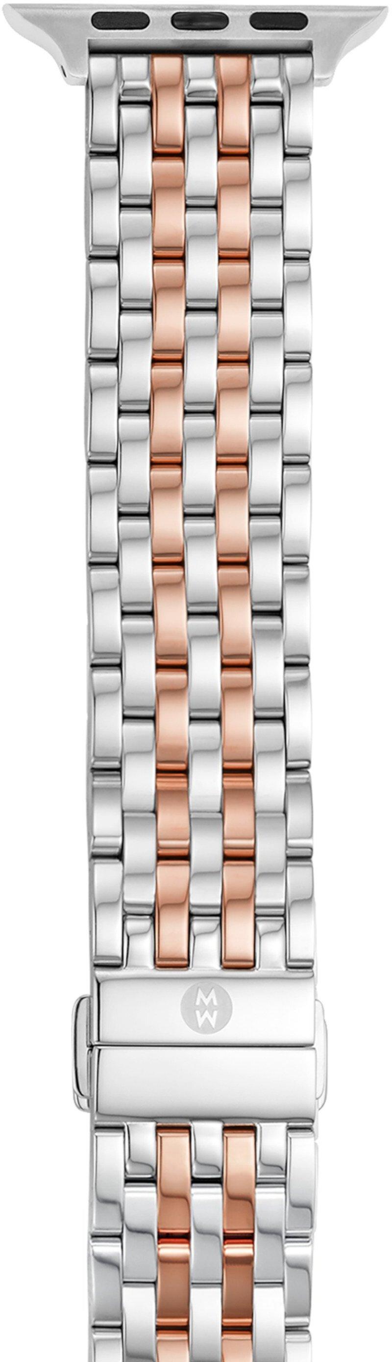 Позолоченный браслет из 18-каратного розового золота для Apple Watch Michele