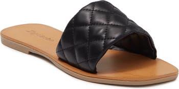 Стеганые сандалии-шлепанцы Kaily Ziginy