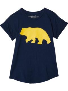 Футболка с короткими рукавами и закатками California Bear (Big Kids) The Original Retro Brand Kids