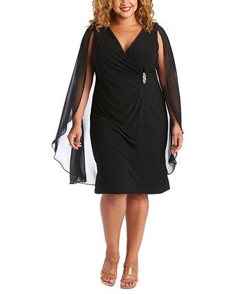 Платье шифон-накидка большого размера с украшением R & M Richards