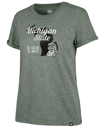 "Женская футболка штата Мичиган ""Спартан"" '47 Brand"