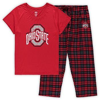 Women's Concepts Sport Scarlet Ohio State Buckeyes Plus Size Ethos T-Shirt & Pants Sleep Set Unbranded