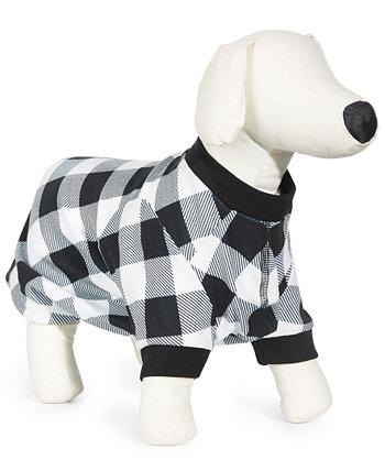 Check-Print Pet Pajamas Family Pajamas