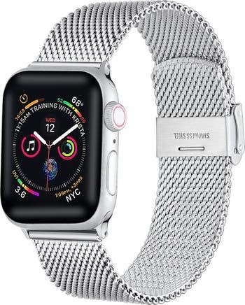 Ремешок из нержавеющей стали для Apple Watch с застежкой - 42 мм / 44 мм POSH TECH