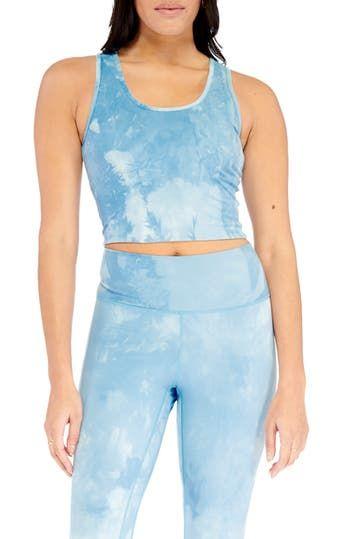 Tye Dye Cropped Tank Electric Yoga