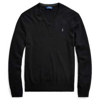 Washable Wool V-Neck Sweater  ig Ralph Lauren