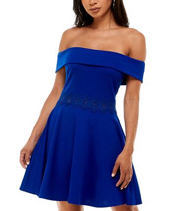 Юниорское платье с открытыми плечами B Darlin