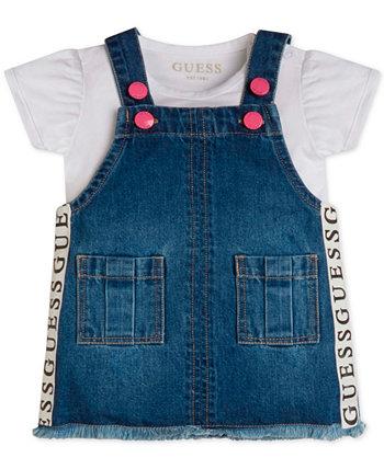Baby Girls 2-Pc. Bodysuit & Denim Skirtall Set GUESS
