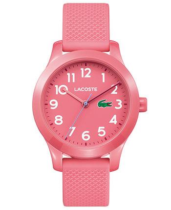 Детские 12.12 розовые часы с силиконовым ремешком 32мм Lacoste