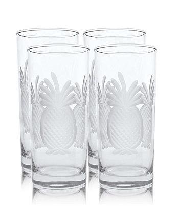 Охладитель ананаса Highball 15 унций - набор из 4 стаканов Rolf Glass