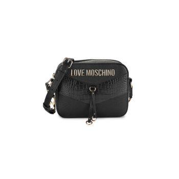 Сумка через плечо с текстурированным логотипом LOVE Moschino