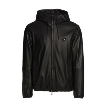 Двусторонняя куртка из кожи наппа Emporio Armani
