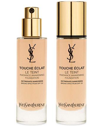 Touche Eclat Natural Radiant Liquid Foundation SPF 22, 1 унция. Yves Saint Laurent