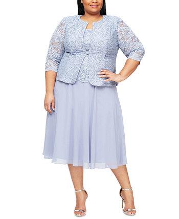 Кружевное платье и куртка больших размеров Alex Evenings