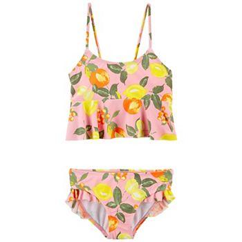 Girls 4-16 OshKosh B'gosh® Lemon Ruffle Tankini Top & Bottoms Swimsuit Top OshKosh B'gosh