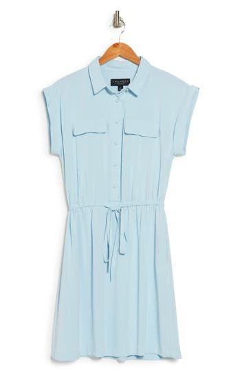 Платье-рубашка с коротким рукавом и пуговицами спереди Laundry by Shelli Segal
