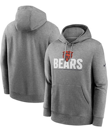 Мужская толстовка с капюшоном для высоких и больших размеров темно-серого цвета Chicago Bears Team Impact Club Nike