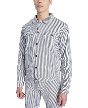 Мужская джинсовая куртка в полоску стандартного кроя NATIVE YOUTH