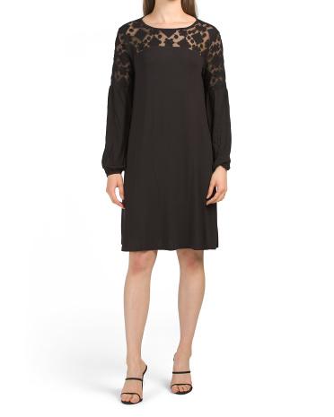 A-line Dress With Lace Yoke CATHERINE Catherine Malandrino